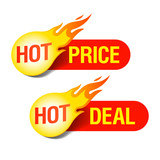 Fototapety Hot Price and Hot Deal tags