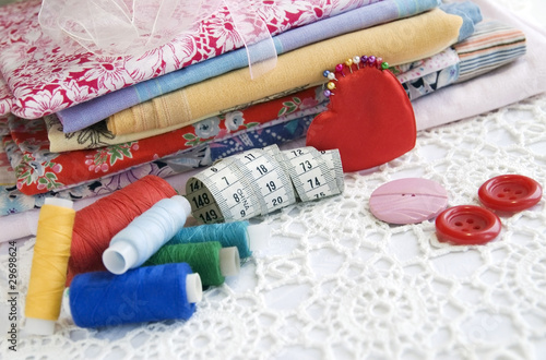 Colorful stuff for sewing at home