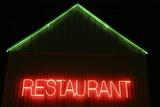 Restaurant neon signage poster