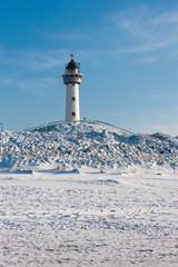 Küstenlandschaft im Winter