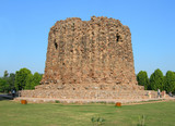 Qutb Minar site second incomplete tower in New Delhi India poster