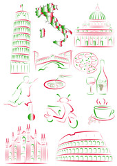 Italian sights and symbols