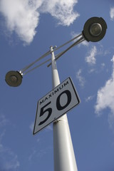 Maximum 50 speed limit sign