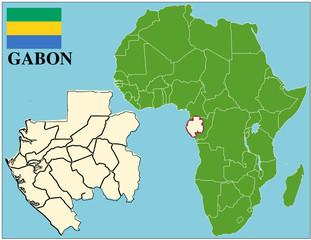 Gabon emblem map africa world business success background