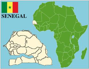 Senegal emblem map africa world business success background