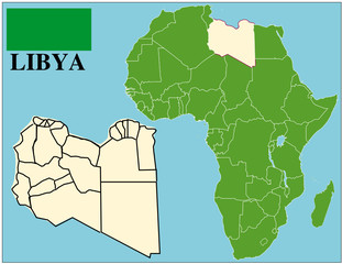 Libya emblem map africa world business success background