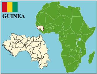 Guinea emblem map africa world business success background