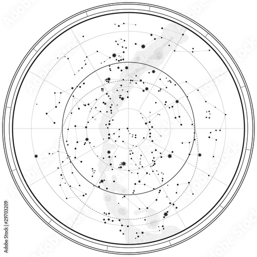 Astronomical Celestial Map (Outline chart)