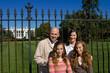 Family Visiting White House Tourists Washington DC