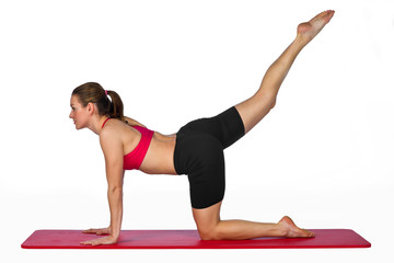woman stretching exercise