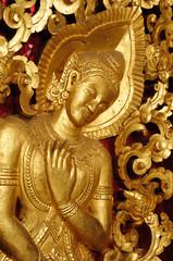 Lao, Luang Prabang, temple detail