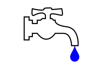 grifo con gota de agua