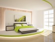 green bedroom composition