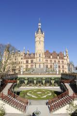 Schloß Schwerin ist der Mittelpunkt der BUGA 2009