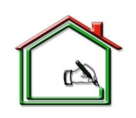 logo maison, plan