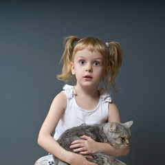 Girl and cat_3