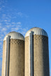 Two Concrete Stave Silos