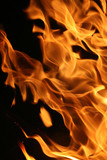 Hot blazing fire abstract background poster