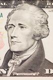 president hamilton face on the ten dollar bill poster
