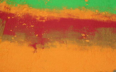 Photo background of colored powder