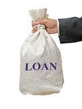Bag with loan poster