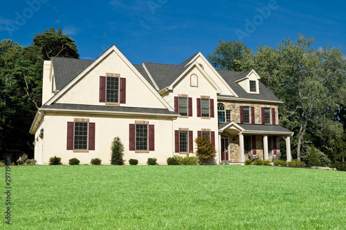 New Colonial Style House Suburban Philadelphia