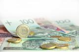Fototapeta zielony - pieniądze - Pieniądze / Banknoty / Karta Kredytowa