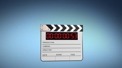 Clapper board, 3d animation