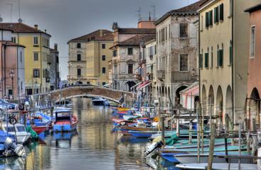 Chioggia channel with bridge