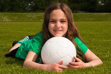 Fussballmädchen, football girl