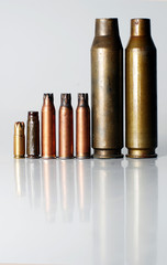 pistol rifle and machine gun cartridge case