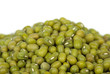 Pile of green mung beans