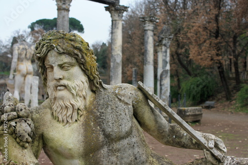 detail of greek statue at Hadrian's Villa near Tivoli