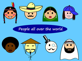 People all over the world
