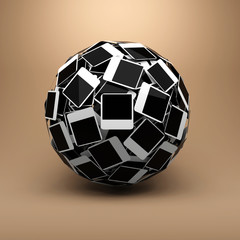 Sphere made of photo.