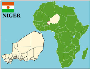 Niger emblem map africa world business success background