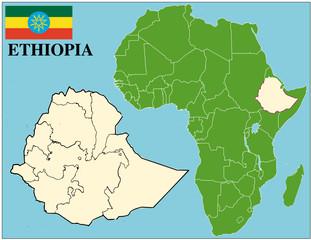 Ethiopia emblem map africa world business success background
