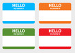 Hello my name cards set - 29729267