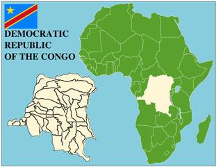 Democratic Congo emblem africa world business success background