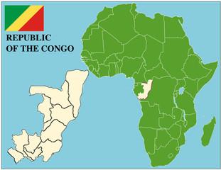Republic Congo emblem africa world business success background