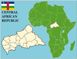Central African emblem  africa world business success background