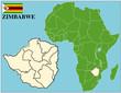 Zimbabwe emblem map africa world business success background