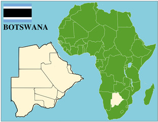 Botswana emblem map africa world business success background