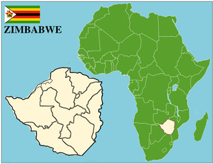 Zimbabwe emblem map africa world business success background