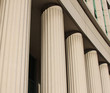pillars at the courthouse
