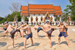 Thai boxing statue