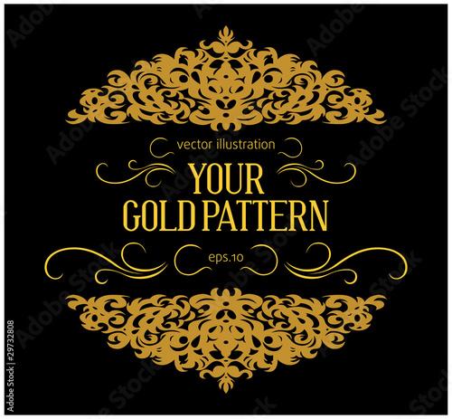 vintage gold border