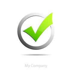 Logo Validation, white background  # Vector