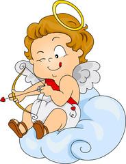Baby Cupid Preparing to Shoot