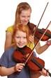 Zwei Mädchen spielen Geige